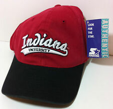 INDIANA HOOSIERS Starter Hat Flexfit Fitted Cap 90's Retro NCAA NWT