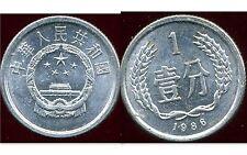 CHINE  1 fen  1986  ( bis )