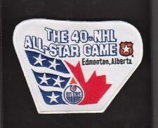 NHL 1989 ALL STAR GAME JERSEY PATCH EDMONTON OILERS