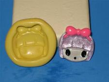 Little Girl Flex Push Mold For Resin Candy Face Bow Silicone A172 Baby Shower