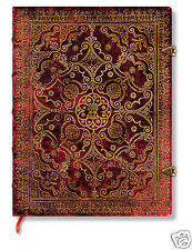 Paperblanks Blank Lined Writing Journal Carmine Dk Red Brown Ultra Size 7X9 NWT
