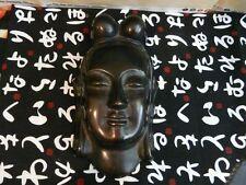 Cast Metal Hindu Goddess Head Wall Decoration