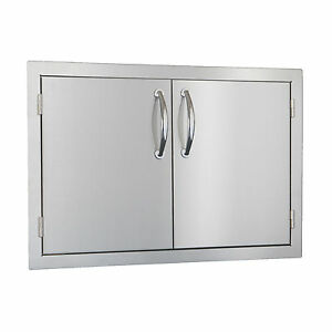 "STG Excalibur Standard 30"" Stainless Steel Double Access Doors Model# STGSDD30"