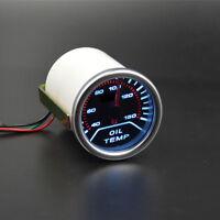 "SILVER 2"" Pointer type OIL TEMP TEMPERATURE GAUGE METER SMOKE Lens LED display"