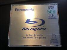 Panasonic BD-R 50GB 2x Blu Ray Disc 5 Pack Made In Japan