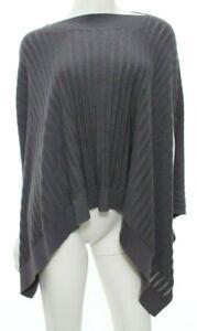 Lululemon Women's O/S Gray Forward Flow Cape Poncho Sweater Cotton Silk EUC