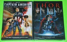 Marvel DVD Lot - Captain America: The First Avenger (New) Thor (New)