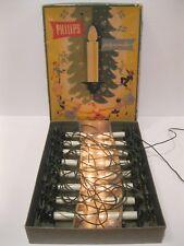 Vintage Philips Julgransljus Christmas Tree Lights Garland With Original Box