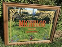 Michelob Beer Vintage Large Mirror Sign Bar Anheuser Busch Brewery Man Cave