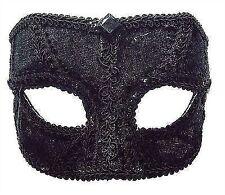 Bristol Novelty Em687 Velvet Male Eye Mask Glasses Frame Black One Size