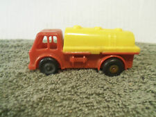Made in West Germany Hard Plastic Friction Driven Red & Yellow Tank Truck Toy