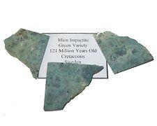 Mien Sweden Meteorite impact crater impactite green breccia Cretaceous