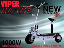 E Scooter Adult 1000W 48V Viper Blade New 2016 Model, Terrain Tyres, 42KPH