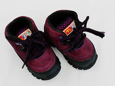 McKids Hikers Leather Upper Boots Infant Baby 3W Ankle High Shoes Purple/Black