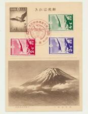 JAPAN 1937 PATRIOTIC AVIATION CARD (#CC-2) +AIR SEMI POST SET (SEE BELOW)