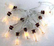 Cadena de Luces LED Mensaje en una Botella 10 Rellenable Gafas con Pilas 120cm