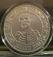 """NEW!! 1 oz Memento Mori """"The Last Laugh BU .999 Silver Round Coin skull"""