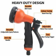 8 Pattern Multi Functional Spray Nozzle Soft Grip Gun Hose Water Sprayer CHN