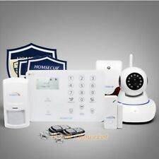 HOMSECUR Wireless 4G SMS Autodial LCD Home House Alarm System+Temperature Sensor