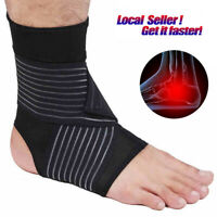 Ankle Support Compression Pain Relief Sleeve Bandage Sport Foot Wrap Strap Brace