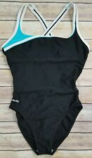 Nabaiji Women's Black One Piece Swim Suit Bathing Open Back Size Small