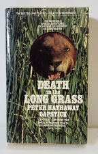 DEATH IN THE LONG GRASS-Peter Hathaway Capstick-Paperback-1st.-Big Game Hunter!