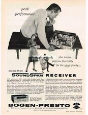 1961 Bogen Presto RP-40 Soundspan Hi-Fi Stereo Receiver VINTAGE Print Ad