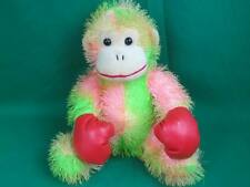 LUCKY TOYS PINK GREEN TIE-DYE SPIKY HAIR MONKEY RED BOXING GLOVES PLUSH BOXER