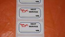 12 Oil Change Matt Plastic Service Sticker 40 X20mm