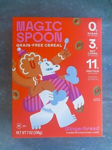 Magic Spoon Keto Low Carb Grain Free Cereal Gingerbread Limited Edition New