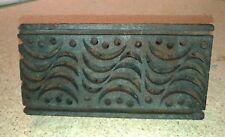 Antico timbro in legno per stoffe e tessuti