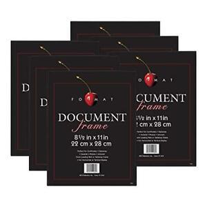 MCS Format Frame, 8.5 x 11 in, Black, 6 Count