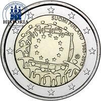 Finnland 2 Euro 30 Jahre Europaflagge 2015 Gedenkmünze Bankfrisch