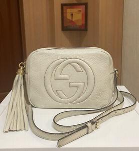 100% Authentic Gucci Soho Disco Bag Crossbody Leather Tassel