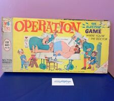 Vintage Operation Complete Board Skill Game 1965 Doctor Milton Bradley