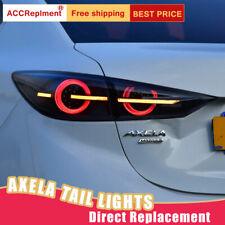 For Mazda 3 Axela LED Taillights Assembly Dark LED Rear Lamps 2014-2018