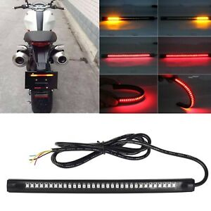 "Universal 8"" LED Tail Brake, L/R Turn Signal Light Strip For Motorcycle Bike ATV"