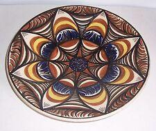 DDR Keramik Wandteller Schmidt Pulsnitz um 1970 / 0 toller Design Künstlerteller