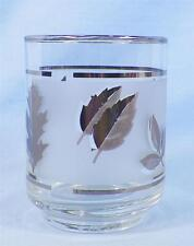 Libbey Silver Leaf 8 Old Fashioned Tumblers Glasses Mid Century Barware