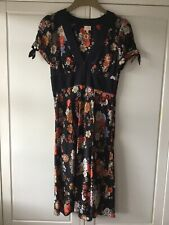Whistles 100% Silk Vintage Style Floral Pattern Dress Size 8