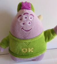 "Disney Pixar Monsters University Squishy Purple 7"" Plush Green OK Shirt"