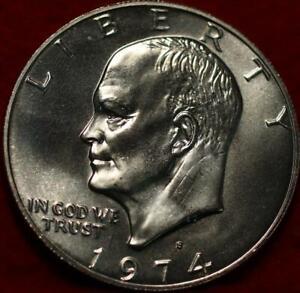 Uncirculated 1974-S San Francisco Mint Silver Eisenhower Dollar