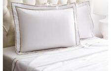 Frette Bedding Analogy Egyptian Cotton King Sheet Set White/Beige G2006
