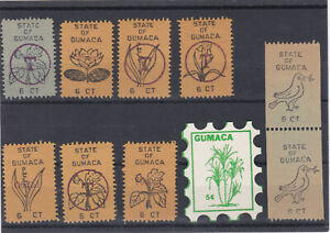 GUMACA LOCAL, PHILIPPINES, PHILIPPINE ISLANDS, overprints 1960´s