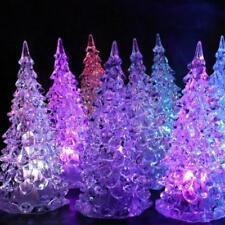 Crystal Christmas Tree LED Lamp Light Ornaments Decoration Xmas Festival Gift