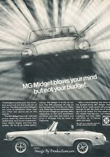 1978 1979 MG Midget - blows your mind - Advertisement Print Art Car Ad J645