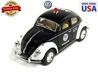 Kinsmart Volkswagen Beetle Classical 1967 Police Car 1/32 Scale Diecast