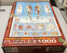 The Human Body Jigsaw Puzzle, 1000 Piece, Brand New, US Made, Eurographics