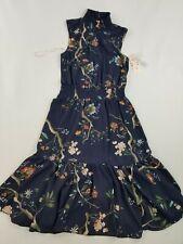 new Nanette Lepore women dress NM0S171E0 navy 132-5 print floral sz 4 $138