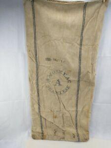 Vintage Extra Heavy Cotton Grain Feed Bag Sack Amoskeag A Seamless Striped